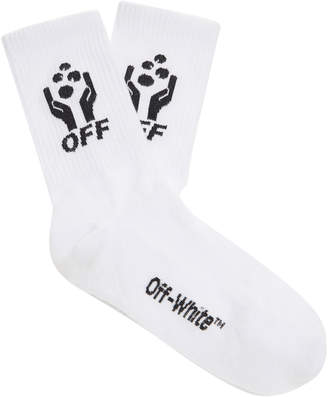 Off-White Hands Off Cotton Socks