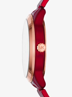 Michael Kors Runway Coated Stainless Steel Watch