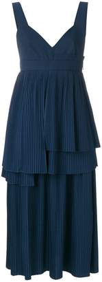 Cédric Charlier pleated layered dress