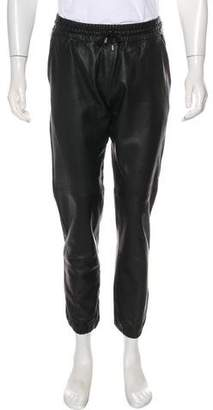 Lot 78 Lot78 Leather Joggers