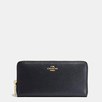 COACH Coach Accordion Zip Wallet In Polished Pebble Leather $225 thestylecure.com