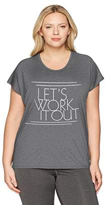 Just My Size Women's Plus Size Active Dolman Graphic Tee