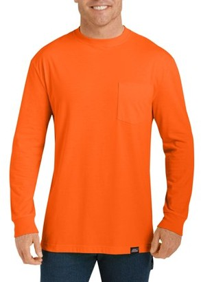 Dickies Big and Tall Men's Long Sleeve Enhanced Visibility T-Shirt, 2-Pack
