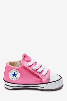 Converse Boys Crib Chuck Trainers - Pink