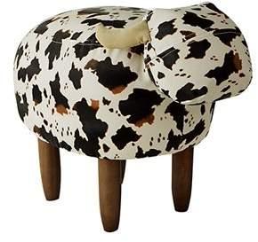 DormCo Jaxson - Black and White Cow - Seating Stool
