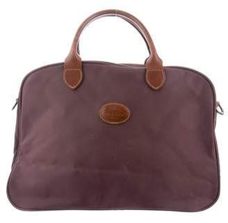 Longchamp Leather-Trim Travel Satchel