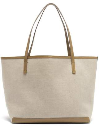 The Row Park Canvas Tote Bag - Womens - Tan Multi