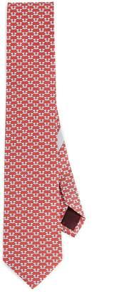 Salvatore Ferragamo Dog Pattern Tie