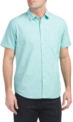 Short Sleeve Solid Peached Shirt