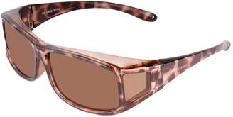 Rapid Eyewear Tortoise Shell WOMENS POLARIZED OVER GLASSES Sunglasses That Fit Over for Ladies. OTG