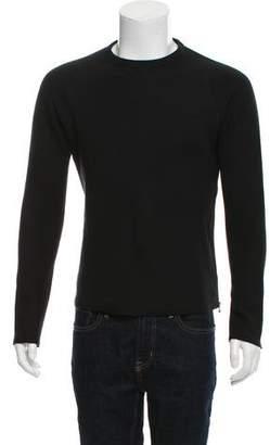 Lanvin Zip-Accented Crew Neck Sweatshirt