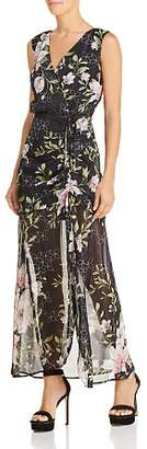 GUESS Nadira Sleeveless Metallic Floral-Print Maxi Dress