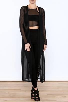 A Ellen Black Mesh Cardigan $22.99 thestylecure.com