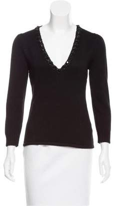 Andrew Gn Embellished Cashmere Sweater