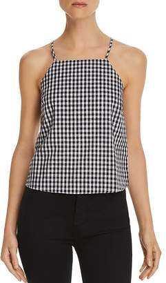 Honey Punch Gingham Button-Back Top