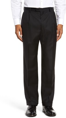 Zanella Bennett Straight Leg Pleated Dress Pants