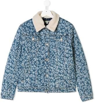 Kenzo TEEN printed denim jacket