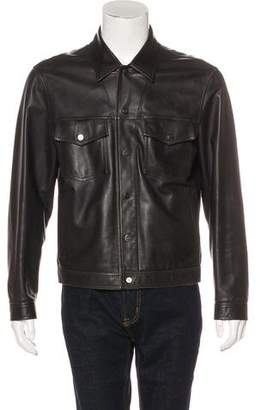 Salvatore Ferragamo Leather Snap-Front Jacket