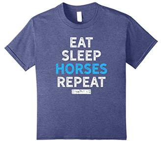 Eat Sleep Horses Repeat Shirt for Horse Riding