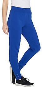 Denim & Co. Active French Terry Jogger Pant w/Lace up Cuff