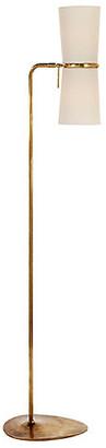 AERIN Clarkson Floor Lamp - Antiqued Brass