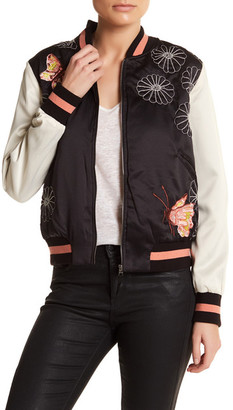Max Studio Butterfly Bomber Jacket $148 thestylecure.com
