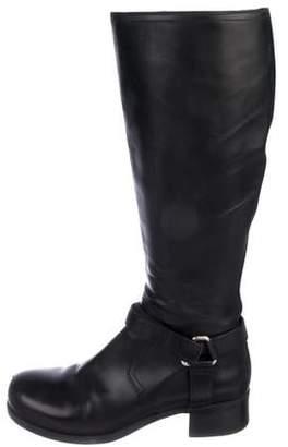 Prada Sport Leather Knee-High Boots