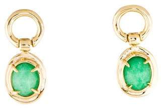 Alexis Bittar Dyed Quartzite Swinging Drop Earrings