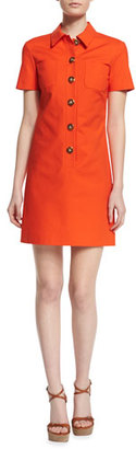 Michael Kors Short-Sleeve Button-Front Polo Dress, Sienna $1,150 thestylecure.com