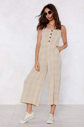Nasty Gal Check in Wide-Leg Jumpsuit