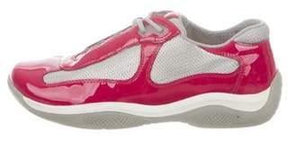 Prada Sport Mesh & Patent Leather Sneakers