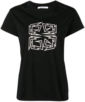 Givenchy distressed hem 4G logo T-shirt