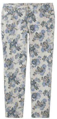 Mossimo Women's Plus-Size Printed Skinny Denim Jeans - Blue Floral Print