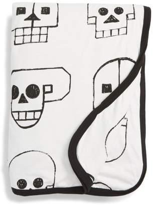Nununu Skull Robot Print Blanket