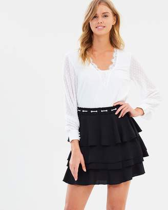 Atmos & Here ICONIC EXCLUSIVE - Taylor Contrast Ruffle Skirt