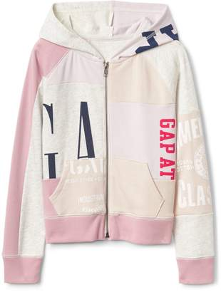 Gap GapKids Logo Remix Patch Hoodie Sweatshirt