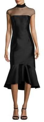 Sachin + Babi Adelia Illusion Midi Dress