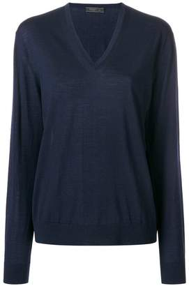 Prada fine knit V-neck jumper