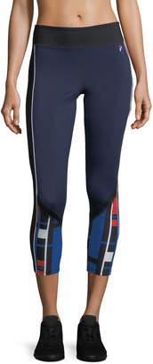 P.E Nation The Bowl Out Cropped Performance Leggings
