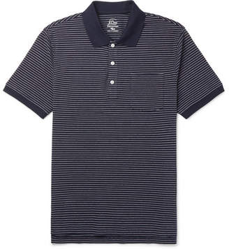 J.Crew Striped Stretch-Cotton Piqué Polo Shirt