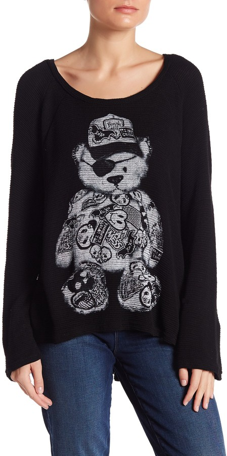 Lauren Moshi Crew Neck Graphic Knit Pullover 3
