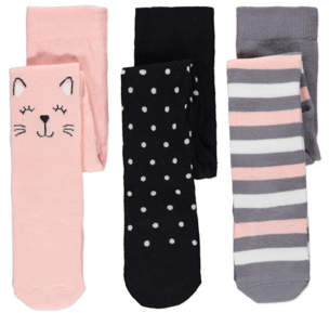 George Knitted Tights 3 Pack