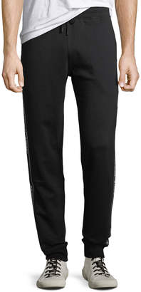 Off-White Off White Men's Cotton Track Pants with Logo Taping