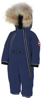 Canada Goose Lamb Snowsuit with Fur Trim, Size 0-24 Months $395 thestylecure.com