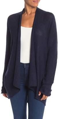 Modern Designer Drape Front Open Cardigan