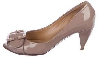 Chloé Patent Leather Mid-Heel Pumps