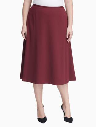 Calvin Klein plus size scuba crepe skirt