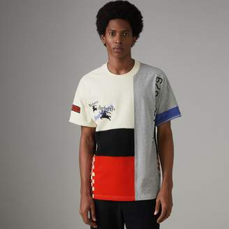 Burberry Archive Logo Panelled Cotton T-shirt