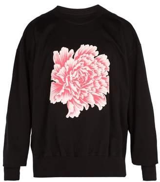 Y-3 X James Harden Floral Print Cotton Sweatshirt - Mens - Black