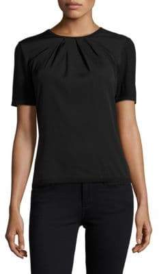 Carolina Herrera Day Collection Pintuck Cashmere/Silk Top
